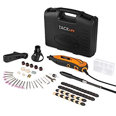 Tacklife RTD35ACL Advanced Professional Multi-functional Rotary Tool Kit with 80 Accessories and 3 Attachments Variable Speed for Around-the-House and Crafting Projects