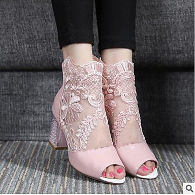 Women's uk4 amp;xuezi 3 Summer Gll eu36 us6 4in 2in Comfort pink blushing Sandals Pink PU 2 Blushing cn36 Casual 5TwwdqP