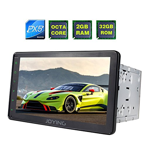 JOYING Head Unit 8 inch PX5 Octa-Core 2GB RAM 32GB ROM Double Din Universal Car Radio with Bluetooth Music & Sleep Mode Function - Support Zlink & Screen Mirroring - Support Android Auto