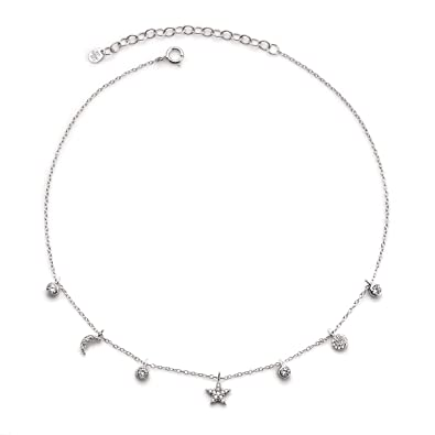 bb0f9967bb06c Crush & Fancy Star Necklace | 925 Sterling Silver and Glimmering Crystal  Star Necklace Collection | Trendy Star Pendants, Chokers and Lariat  Necklaces