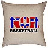 fan products of Hollywood Thread Norway Basketball - Olympic Games - Rio - Flag Decorative Linen Throw Cushion Pillow Case with Insert