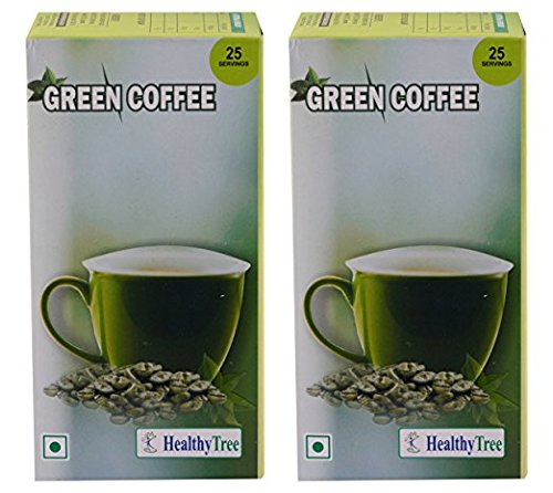 Healthy Tree Instant Green Coffee For Weight Loss- 25 Sachets(Pack Of 2) Easy To Use
