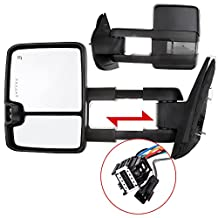 Scitoo Left Right For 2007-2014 Chevy Silverado GMC Sierra 2500HD 3500HD Towing Power Heated LED Signal Mirrors