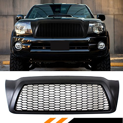 Fits for 2005-2011 Toyota Tacoma Matt Black JDM Front Hood Honeycomb Mesh Grill Grille Replacement (Toyota Tacoma Grill 2009)