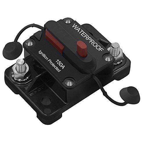 Ocamo 50A 100A 150A Car Motor Audio Refit Energy Inline Circuit Breaker Fuse Manual Reset 12V/24V Manual reset + switch 150A