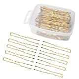 Aprince Bobby Pins Bobby Pins Buns U Shaped Pins for Women Gold Hair Pins Bobby Pins Open Flower Bobby Pins 200 Pieces Gold