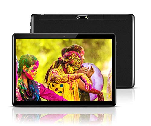 Android Tablet 10 Inch with Sim Card Slots – 10.1″ 4GB RAM 64GB ROM Octa Core 3G Unlocked GSM Phone Tablet PC with WiFi Bluetooth GPS Netflix YouTube (Black)