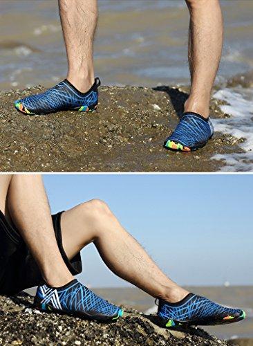 Unisex Por Azul de R¨¢Pido Zapatos Descalzos La La Nadar Playa Piel Playa Los Secado Surf GTKC de Pareja Yoga 1 Zapatos de Para La La de dStqdU