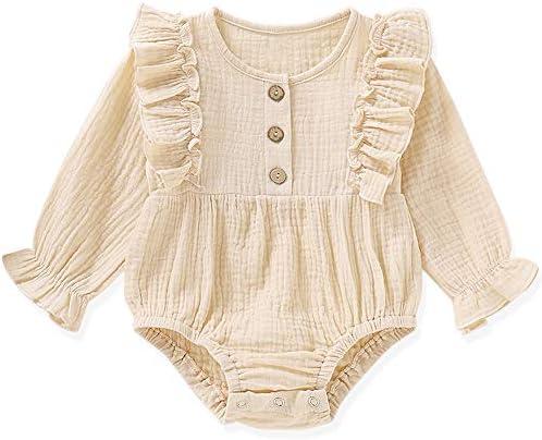 Newborn Clothes Floral Footless Jumpsuit