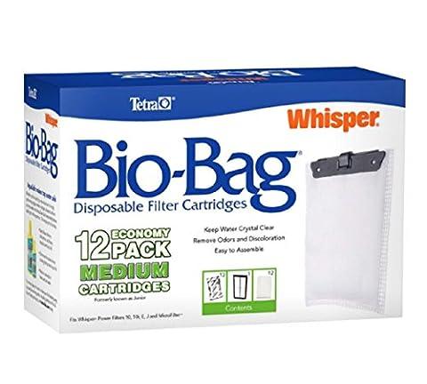 Tetra Whisper Bio-Bag Cartridge, Filter Unassembled, Medium, 12-Pack, New!!!