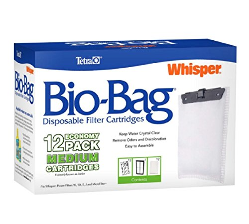 Tetra Whisper Bio-Bag Cartridge, Filter Unassembled, Medium, 12-Pack, New!!!