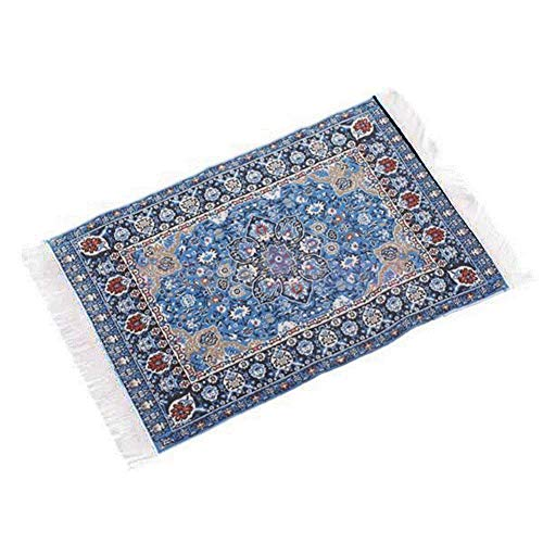 Asien Small Mini Toy Miniature 1/12 Scale Turkish Woven Carpet Blanket Rug Dollhouse Accessories Toy-Starry Night