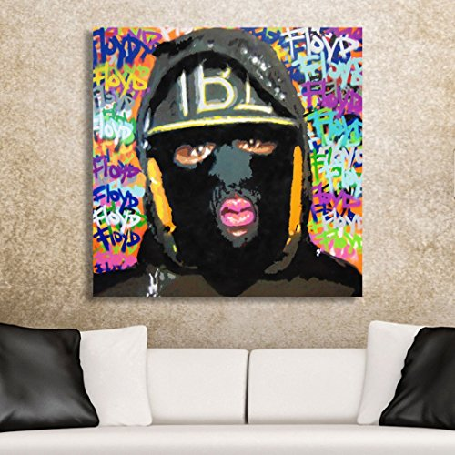 The Heist Limited Edition Spencer Couture Floyd Mayweather Canvas Wall Art 30''x30'' by Spencer Couture Art