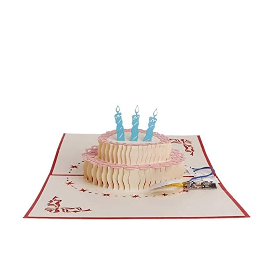 LXMK Tarjeta de felicitación emergente 3D Feliz cumpleaños ...