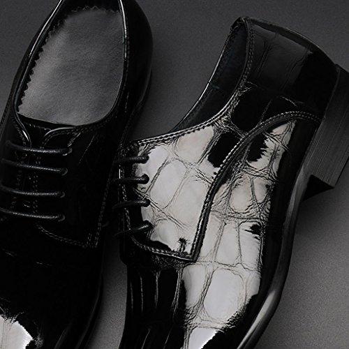 ... Schuhe Flut Stil Herrenschuhe Britischen Schwarz EU39 Casual Schuhe  Herren Helle Farbe Formelle Business Schuhe Größe 7990533eb2