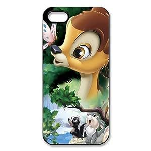 Customize Black White Disney Bambi Back Case for iphone 5 5S -2203 hongguo's case