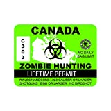 fagraphix Canada Zombie Hunting Permit Sticker Decal Outbreak Response Team #2 FA Vinyl - 4.00 Wide