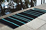YogaLand Exercise Yoga Mat – Guru Darkpool | 100% Cotton, Anti-Skid, Washable | Non-Slip Eco-Friendly Anti-Tear | Exercise Mat Yoga, Workout, Fitness 5mm (25″X 72″) Includes Cotton Bag to Carry