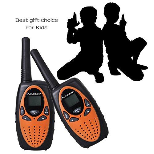 Floureon 22 Channel FRS/GMRS 2 Way Radio Up to 3000M/1.9MI Range (MAX 5000M/3.1MI) UHF Handheld Walkie Talkie, Pack of 4