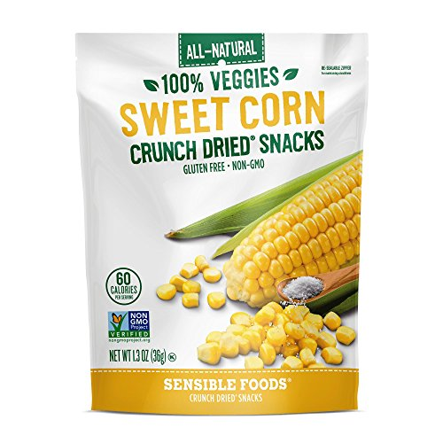 Sensible Foods Dried Snacks, Sweet Corn, 1.3 Ounce (Pack of 12)