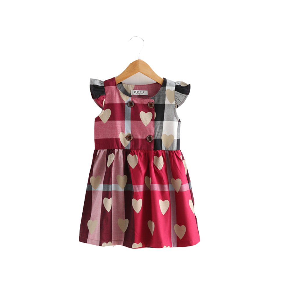 Girls' Casual Dress, Sleeveless Cotton Playwear, Cute Printing Tunic Summer Girls' Casual Dress SUTON SU-8