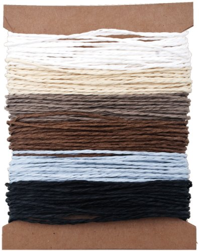 Solids Paper String by Tim Holtz Idea-ology, 5 Yards of Each Color, 6 Colors, (Paper Twine)
