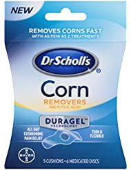 Dr. Scholl's Corn Remover with Duragel Technology, 6ct // Removes Corns Fast and Provides All-Day Cushioning Pain Relief