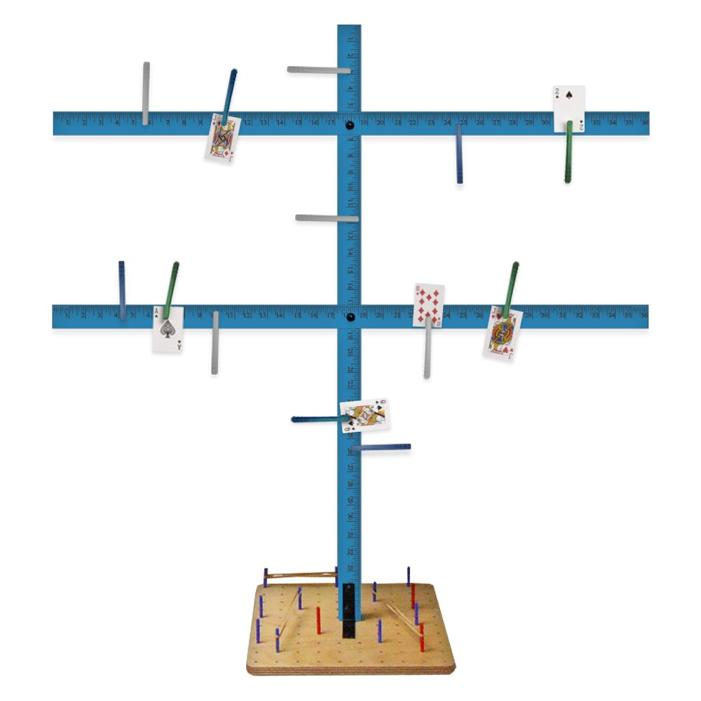 Rehabilitation Advantage Yardstick Tree Stand with Wooden Peg Board, 2.3 Pound