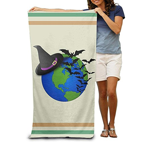 Halloween Global Bat Adults Cotton Beach Towel 31