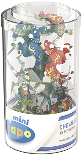 (Papo Mini Tub Figure, Knights - 12 Pieces)