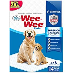 Wee-Wee Standard Size Puppy Pads for Dogs, 14 Count