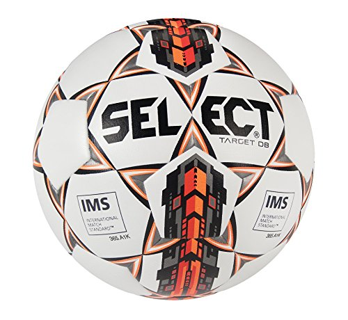 Select Sport America Target Db Soccer Ball, Size 5, White/Red ()