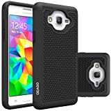Galaxy On5 Case, OEAGO Samsung Galaxy On 5 Case Cover Accessories - Shock-Absorption Dual Layer Defender Protective Case Cover For Samsung Galaxy On5 G550 - Black