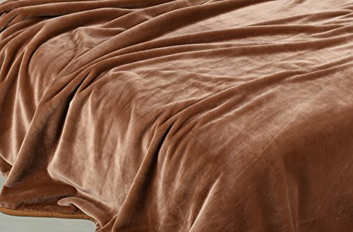 Chezmoi Collection Heavy Thick One Ply Korean Style Faux Mink Blanket 9-Pound Oversized King 105x92