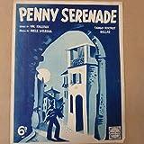 song sheet PENNY SERENADE 1938