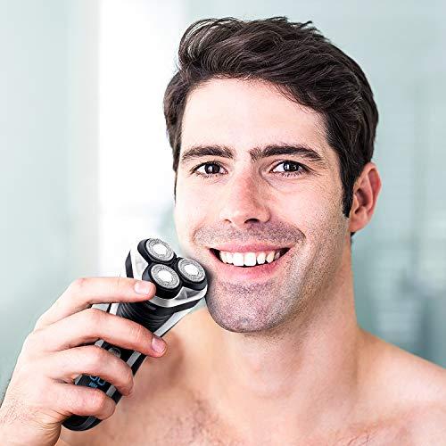 Hatteker Electric Shaver Rotary Razor Men Cordless Beard trimmer Pop-trimmer Wet Dry USB Rechargeable