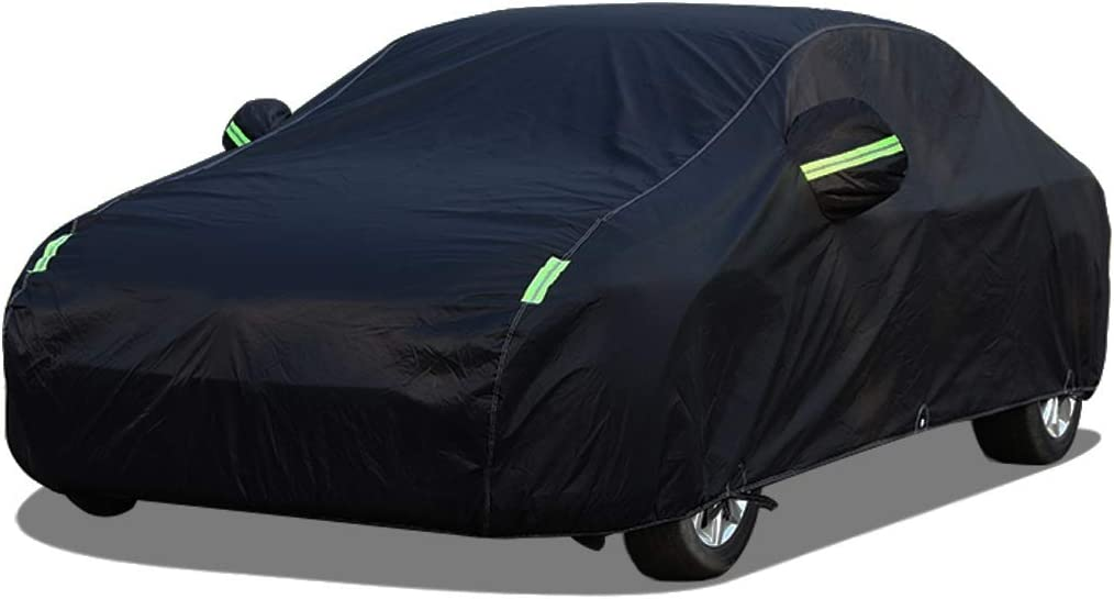Full Exterior Covers Car Cover Compatible with Alfa Romeo Giulia Full Car Cover All Weather Waterproof Protection From Rain Dust Wind Sun UV Indoor Outdoor Auto Protector Automobile Car Cloth