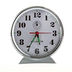 AcuRite 15606 Vintage Alarm Clock, White