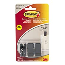 Command Slate Spring Clips, 3 Clips 4 Small Strips, (17089S-C)