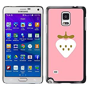Be Good Phone Accessory // Dura Cáscara cubierta Protectora Caso Carcasa Funda de Protección para Samsung Galaxy Note 4 SM-N910 // strawberry minimalist gold bling heart