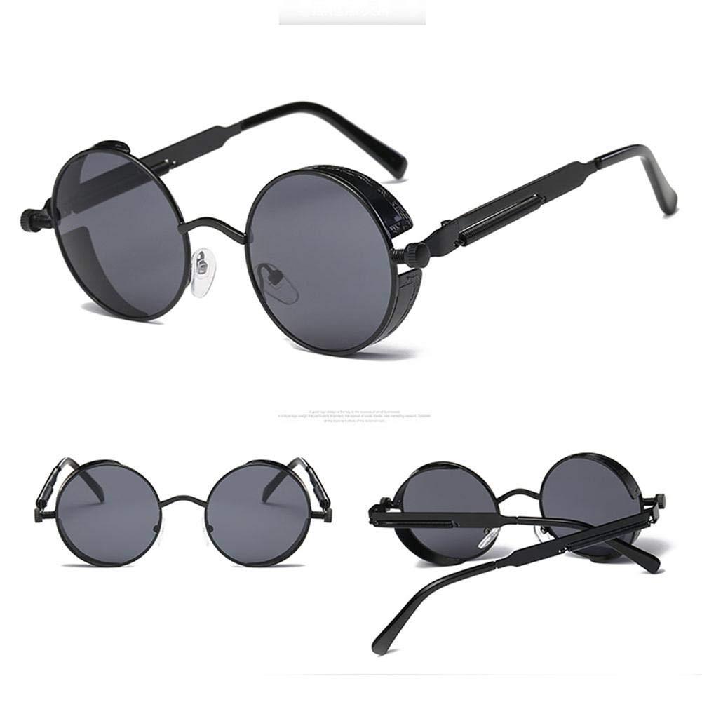 Men's and Women's Fashion Glasses Retro Frame Retro Sunglasses Metal Steampunk Sunglasses coreca1