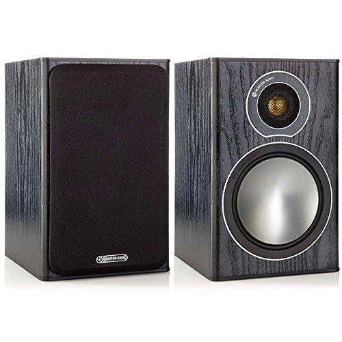 Par de Caixas Acústicas Bookshelf, Monitor Audio, SBRS1B, Preto Fosco