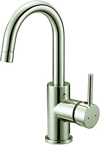 Design House 547570 Eastport Single-Handle Bar Faucet, Satin Nickel