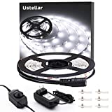 Ustellar Dimmable LED Light Strip Kit, 300 Units SMD 2835 LEDs, 16.4ft/5m 12V