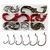 JSHANMEI 150pcs/box 7316 2X Strong Fish Hooks High Carbon Steel Worm Hooks Jig Fishing Hooks