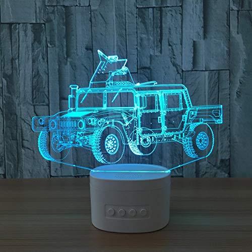 Acryl Nachtlicht Neuheit 3D Chariot Usb Led Lampe Blautooth Lautsprecher Musik 3D Auto Led Nachtlicht Farbe Veränderbar Lamparas Kindergeschenk 3D Illusion