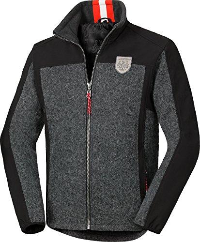 Tiroler Loden Walkfilz-Softshelljacke für Herren in schwarz