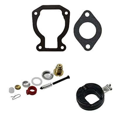 Jahyshow Carburetor Carb Kit w/Float For Johnson Evinrude 9.9 HP 15 HP 1974-1988 398453: Automotive