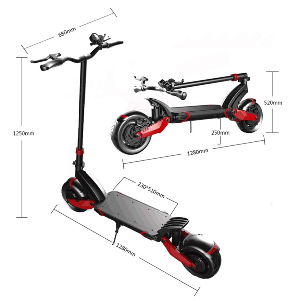 Amazon.com: MAXX Patinete eléctrico 43.5 mi/h 43 mph: Sports ...