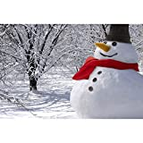 Classic Build Your Very Own Snowman 8 Piece Kit - Outdoor Winter Holiday Fun For Kids